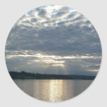 Sunset in British Columbia Canadian Seascape Classic Round Sticker