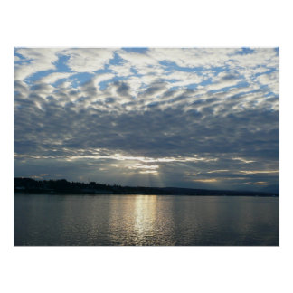 Sunset in British Columbia Canadian Seascape Poster