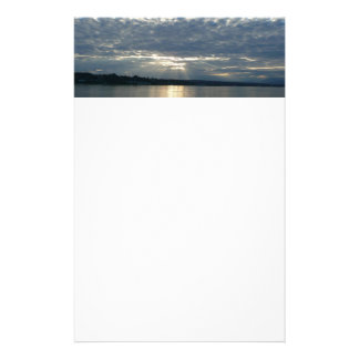 Sunset in British Columbia Canadian Seascape Stationery