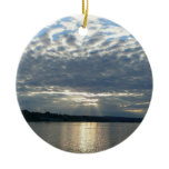 Sunset in British Columbia I Canadian Seascape Double-Sided Ceramic Round Christmas Ornament