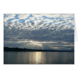 Sunset in British Columbia I Canadian Seascape Greeting Card