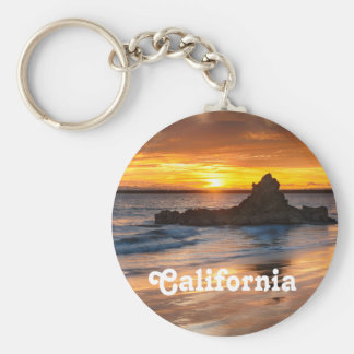 Sunset in California Keychain