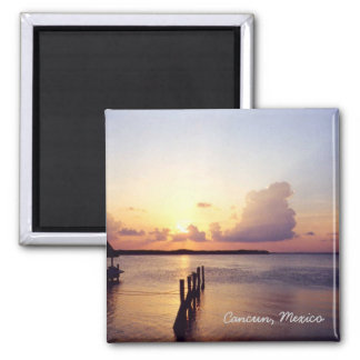 Sunset in Cancun 2 Inch Square Magnet