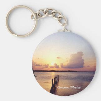 Sunset in Cancun Keychain