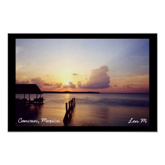 Sunset in Cancun Poster