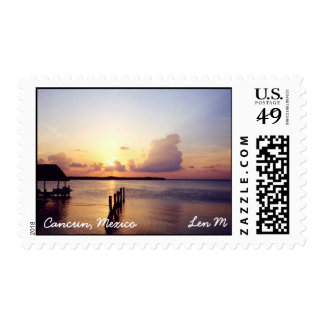 Sunset in Cancun Stamp