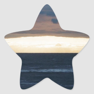 Sunset in Cape May, N.J. Star Sticker