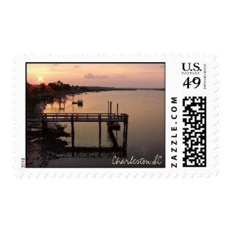 Sunset in Charleston SC Stamp