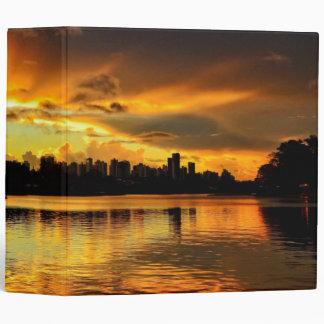 Sunset In City Londrina, Brazil Binder