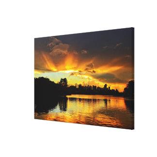 Sunset In City Londrina, Brazil Canvas Print