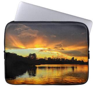 Sunset In City Londrina, Brazil Computer Sleeve