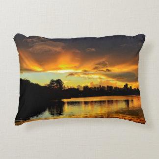 Sunset In City Londrina, Brazil Decorative Pillow