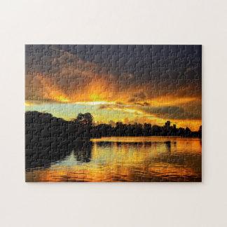 Sunset In City Londrina, Brazil Jigsaw Puzzle