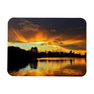 Sunset In City Londrina, Brazil Magnet