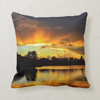 Sunset In City Londrina, Brazil Throw Pillow