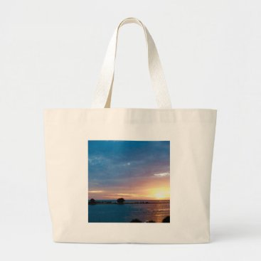 Beach Themed Sunset in Clearwater Large Tote Bag