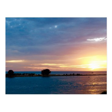 Beach Themed Sunset in Clearwater Postcard