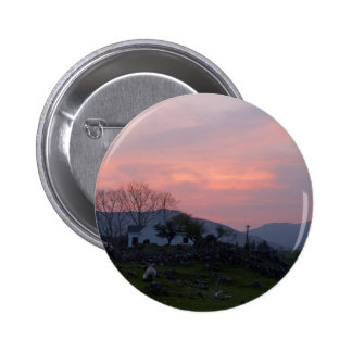 Sunset In Connemara County Galway Ireland In The I 2 Inch Round Button