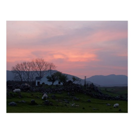 Sunset In Connemara County Galway Ireland In The I Postcard