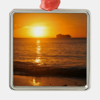 Sunset in Copacabana, Brazil Metal Ornament