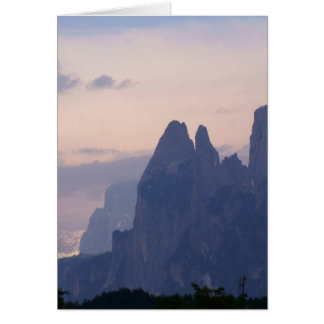 Sunset in Dolomites Card