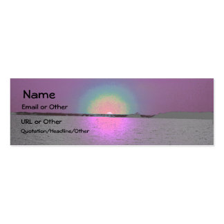 Sunset in Fairyland Double-Sided Mini Business Cards (Pack Of 20)