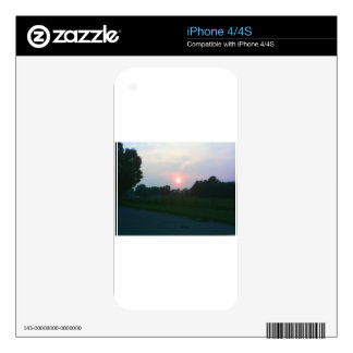 Sunset in Flint Michigan Skin For iPhone 4