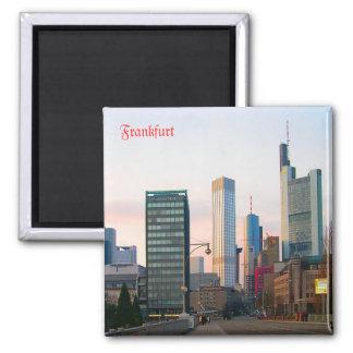 Sunset in Frankfurt Magnets