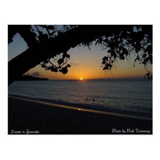 Sunset in Granada Postcard