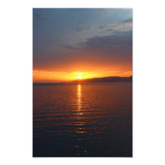 Sunset in Greece Photo Print