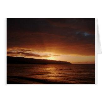 Sunset in Haleiwa Hawai'i 2007 Card