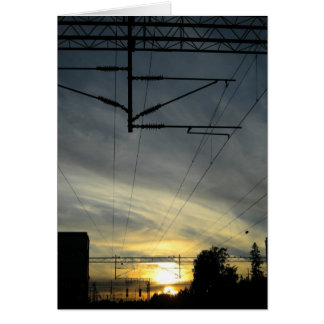 Sunset in Huopalahti Stationery Note Card
