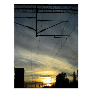 Sunset in Huopalahti Postcard