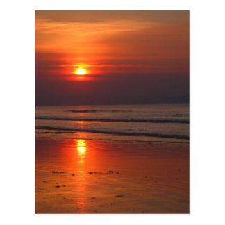 Sunset in Ireland - Irish Sea - Postcard
