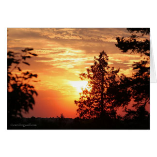Sunset in July Card