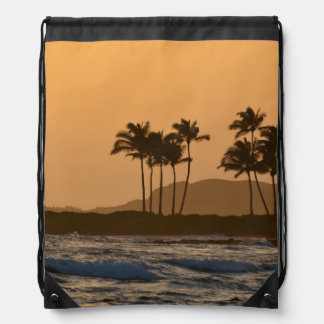 Sunset in Kauai Drawstring Backpack
