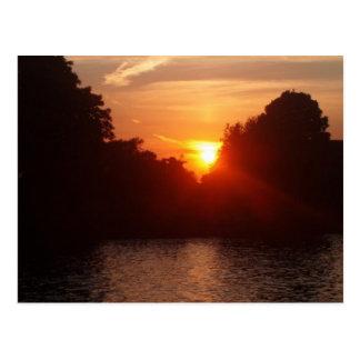 Sunset in Kingston Postcard
