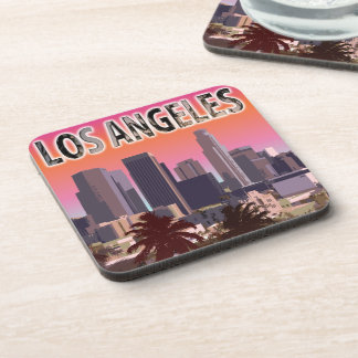 Sunset In L.A. California Drink Coaster