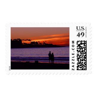 Sunset In La Jolla Postage