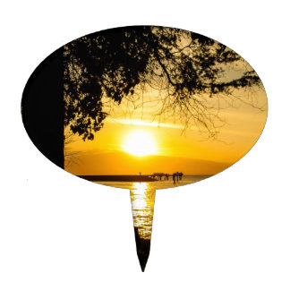 Sunset in Lahaina Cake Topper