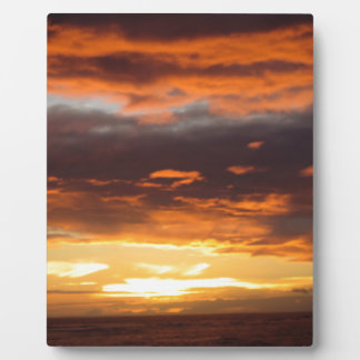 Sunset in Lahaina in Maui Hawaii Display Plaque