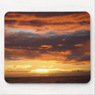 Hawaiian Themed Sunset in Lahaina in Maui Hawaii Mouse Pad