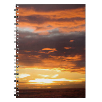 Sunset in Lahaina in Maui Hawaii Spiral Notebook