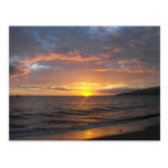 Sunset in Lahaina, Maui, Hawaii Postcard