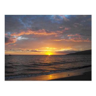 Sunset in Lahaina, Maui, Hawaii Post Card