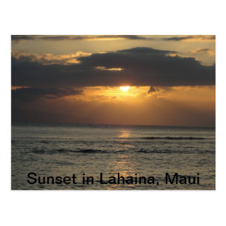 Sunset in Lahaina, Maui Postcard