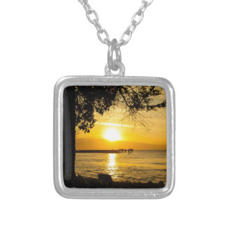Sunset in Lahaina Square Pendant Necklace