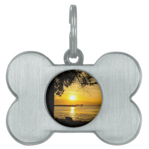 Sunset in Lahaina Pet Name Tags