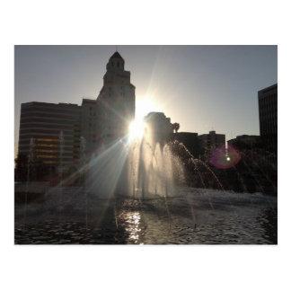 Sunset in Long Beach Postcard