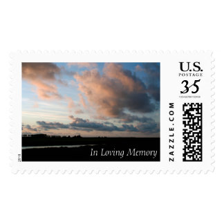 Sunset In Loving Memory Peaceful Memorial Stamps 1